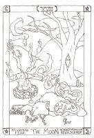 The Moon Tarot - Line Art by MacabreMajesty