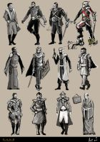 Dune Character Sketches by DuneFishUK