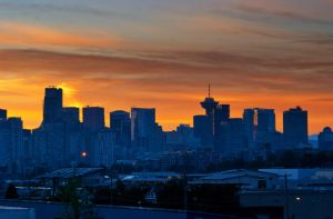 Vancouver City Sunset by lisoslyphem