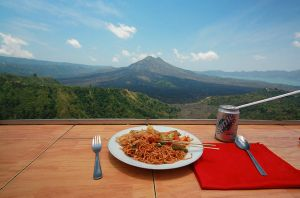 Dinner at Mount Batur by AngiWallace