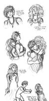 Finnick and Annie BIG SKETCHDUMP (for finnodair) by xxIgnisxx