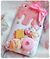 Decoden iphone 3g Case by PeachMilktea
