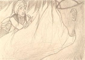 Finrod Trapped by PyriteWolf