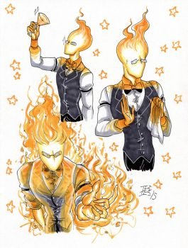 Grillby 2 by d0nkarnage
