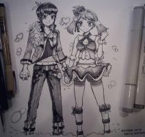 Ruby and Sapphire ( Brandon and May) by WC-TahoGi