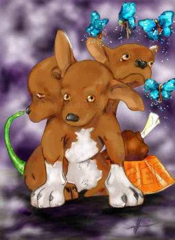 Cerberus the Chihuah by Funland