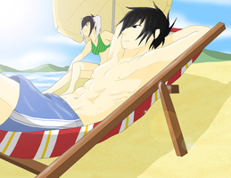 Torak and Hana - the beach by AniiTaRuiz
