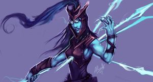 Kalista, the Spear of Vengance by Aths-Art