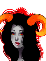 Adult Aradia portrait by GrimmBunny