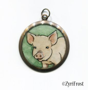 Pig pendant by ZyriFrost