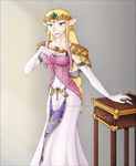 Glamour Shot Zelda: Colour by Lady-Zelda-of-Hyrule