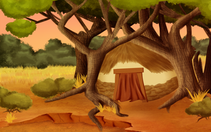 Squished Hut in the Trees by k-o-j-i