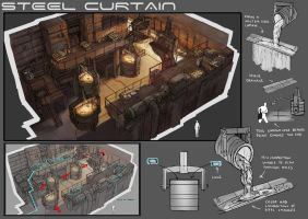 Level Design: Steel Curtains by yongs