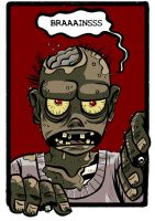 Zombies Calling - t-shirt 03 by damnskippy