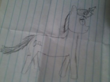 First Atempt at Drawing a Pony!!! by underthemonkey