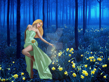 Waking the Daffodils by kimj1129