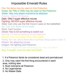 Emerald Type Nuzlocke Rules by RachelJourneyT8