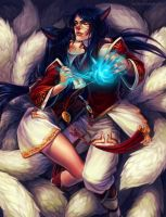 ahri and male ahri by irahi