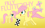 Filly Fluttershy Wallpaper by adamlikesponies
