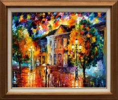 Morning stroll by Leonid Afremov by Leonidafremov