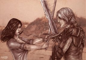 Fenris and Tarva by Agregor
