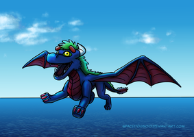 Daniel as real dragon by SpaceDog500