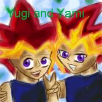 Yami and Yugi by xcrystalclearx