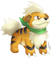 Growlithe - PMD Artwork Style by ManiacalMew