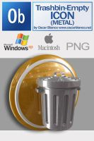 Metallic Trashbin Empty Icon by otas32