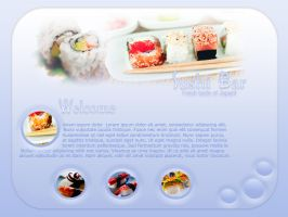 Sushi Bar Website Template by Ravenblade234