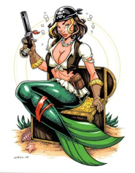 Pirate Mermaid commission by gb2k