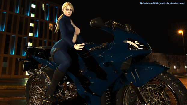 Jill Valentine-Biker girl in the night 3 by Nabriales-D-Majestic