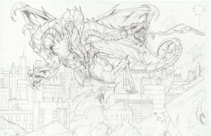 King Ghidorah by TheEndofOurLives
