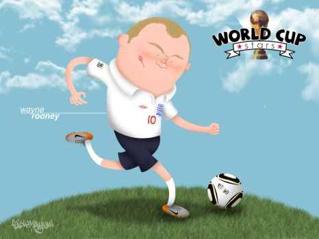 World Cup Stars - Rooney by fabiomayumi