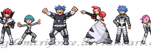 TeamGalactic Sinnoh GymLeaders by KingdomTriforce