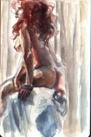 watercolor figure draw by PayRoo