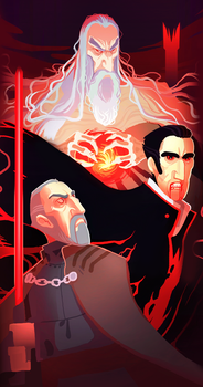 Dark Lord Christopher Lee by Art-Calavera