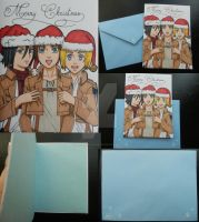 Comm: Attack on Titan Christmas Card [details] by LadyNin-Chan