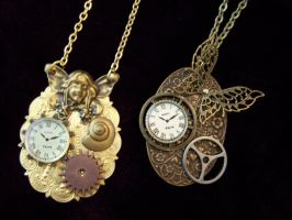 Steampunk Butterfly Pendants by SteamPunkJennie