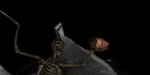 Vampire Lord Skeleton Holding Head in MMD by Valforwing