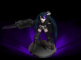 [MMD x BRS] Insane Black Rock Shooter by KirinAkumachi