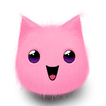 :D pink kitten puff by Misery16226