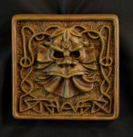 Green Man plaque completed by Boggleboy