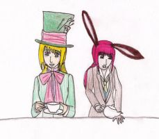 Mad Hatter and the March hare by ApwilCakes