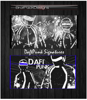 DaftPunk Signatures by Wolvyqueen