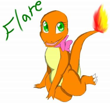 Flare the Charmander by MelodyPsychic