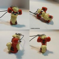 Growlithe Charm by ChibiSilverWings