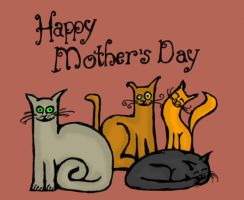 Mother's Day Cats by billiambabble