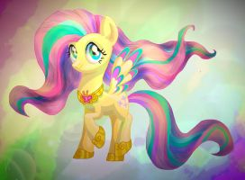 Rainbow Power Fluttershy by Veliska