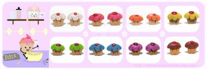 Cupcake Earring Menu by chat-noir